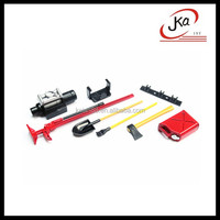 Red Scale Tools Set & Accessory 6pcs, Assortment for Scale RC Rock Crawlers