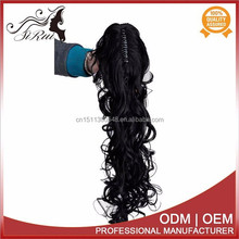 Wholesale price synthetic firber kanekalon ponytail, curly hair extension blonde