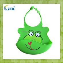 HXC1899 Silicon bib with cartoon designs for 6 month to toddlers washable silicone baby bib wholesale