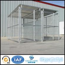 Custom-made outdoor galvanized tube dog kennel