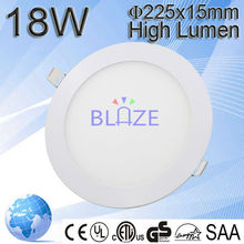 Hot sale cut out size 200mm round led panel 18W round led panel light 2835smd with 3years warranty
