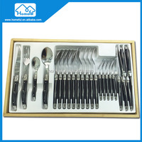24PCs abs handle laguiole Stainless steel color different kinds of flatware