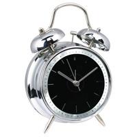 Simple style metal double bells alarm clock men