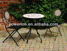 Dia 60cm round mosaic table