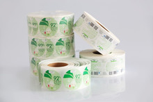 Different material to choose vinyl adhesive label for plastic bags products
