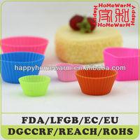 Mini Oval Silicone Reusable Baking Cup/Cajas+De+Carton+Para+Cupcakes