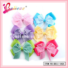 Friendly hair accessories for infant,cute baby bows hair clip,cheerleading bows and ribbons