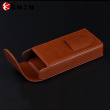 Personalized Leather travel cigar case\cigarette cases