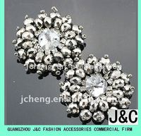high fashioned crystal diamond stone shoe accessories flower