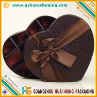 Heart shape gift wrapping paper box for chocolate or candy