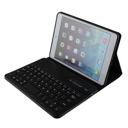 Fashion Crazy Horse Leather Removable Bluetooth Keyboard Case for iPad Mini Leather Case Stand Cover