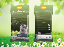 Apple Fragrance Premium White Color Sodium Clay Clumping Kitty Litter with Silica Beads Added