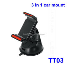2015YiSeabo TT03 Universal Car Windshield Monbile Phone Mount Holder wholesale air vent car holder 3 in 1 car holder