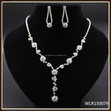 2015 Delicate Design rhinestone necklace set for wedding birdal party