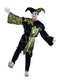 Arlequín bufón payaso de circo payaso del traje y sombrero de Halloween Medieval adultos del vestido de lujo