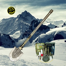 Auto Emergency Tool Kit/Multifunction Outdoor Survival shovel equiped with flashlight ,knife,bag