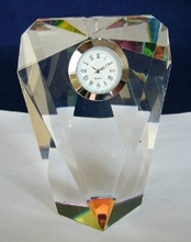 top selling decorative crystal clock for business &wedding gift favors