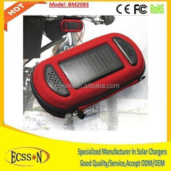 2000mah solar panel charger battery power with mini speaker for relaxation