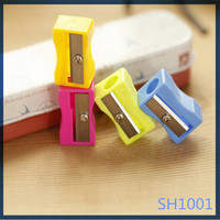 Lastest arriving eco korean office school stationery cute for promotional gifts metal pencil sharpener