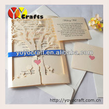 laser cut wedding favors holiday supplies paper love tree wedding invitations cards with free logo