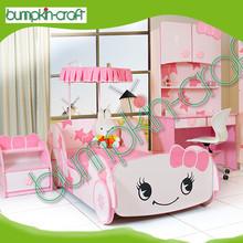 Hot selling kids car shape princess racing car bed