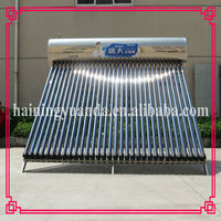 300L Integrated vacuum tube hot water heater Pressurized Solar Water Heater