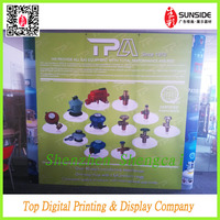 straight pop up display stand with thick pvc image