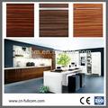 estilo europeo de alto brillo de madera del grano de pvc gabinete de cocina puerta