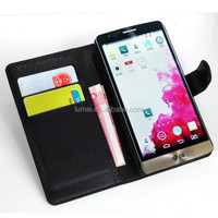 2015 Flip Leather Wallet Case With Card Slot Stand Holder Case Cover For LG G3