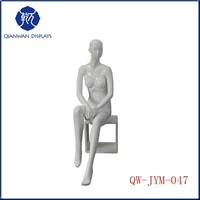 2015 new cheap used sitting fiberglass female sexy lifelike mannequin abstract