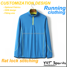 running clothing 88% Dri-Fit 12% Spandex tracksuit moisture wicking Long sleeve pullover sports jersey running jacket