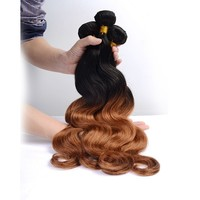 """Top selling two tone braiding hair body wave 16"""" 18"""" 20"""" 3 pcs lot ombre color T1B/30 virgin Brazilian human hair extensions"""