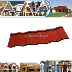 Shake Wanael stone coat steel roof tile/economic roof covering/metal roof dog houses