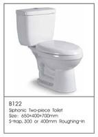 B122 Hot Sale Bathroom Shelves Glacier Toilets Supplier Two Piece Toilet Factory