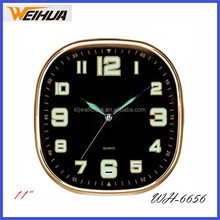 11 inch square luminous wall clock