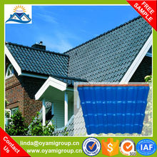 Popular 25 years guarantee color corrugated plastic fiberglass spanish roofing tiles for construction