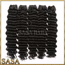 Top grade unprocessed deep wave hair, brazilian virgin hair weave deep curly