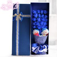 Cheap artificial soap flower with cartoon wedding decoration
