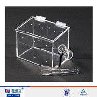 Transparent square high grade acrylic plexiglass display packing box