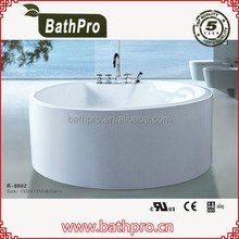 Freestanding pure white arcylic small round bathtub (R8002)