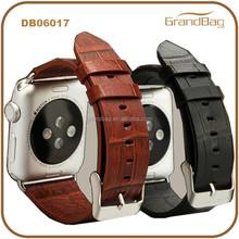Men Luxury Crocodile Skin Leather Watch Belt for Apple Watch Replace