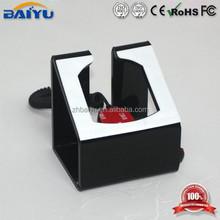 Elegant black telecom display stand for 10 inch tablet