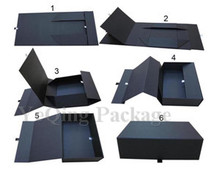 Customized rigid paper folding box, magnetic closure cardboard gift box,foldable paper box