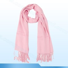 100% Pashmina Hot Single Wool Solid Wrap Pink Shawl Plain Scarf