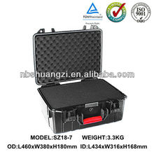 waterproof shockproof dustproof hard plastic equipemnt case / injection molded case / storage case