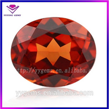 New style super bright Orange oval cut synthetic crystal glass ruby prices uncut rough diamonds