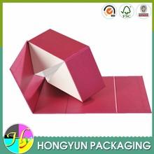 2015 fashion style box gift , foldable paper gift box