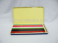 Slim rectangular color pencil case with hinge