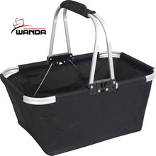 Colorful aluminum frame oxford folding shopping basket