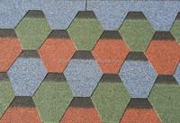 Fiberglass Asphalt Roofing Shingles With Mosaics Shape